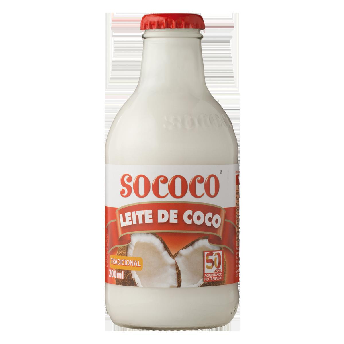 3b4265f22 Leite de Coco SOCÔCO Vidro 200ml