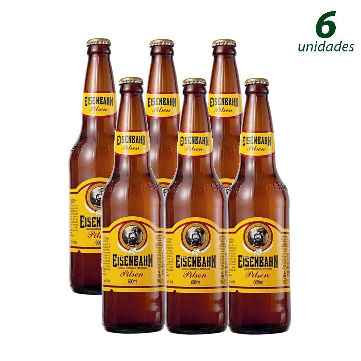 Conhecido Cerveja EISENBAHN Pilsen Garrafa 600ml - Caixa com 6 Unidades MS36