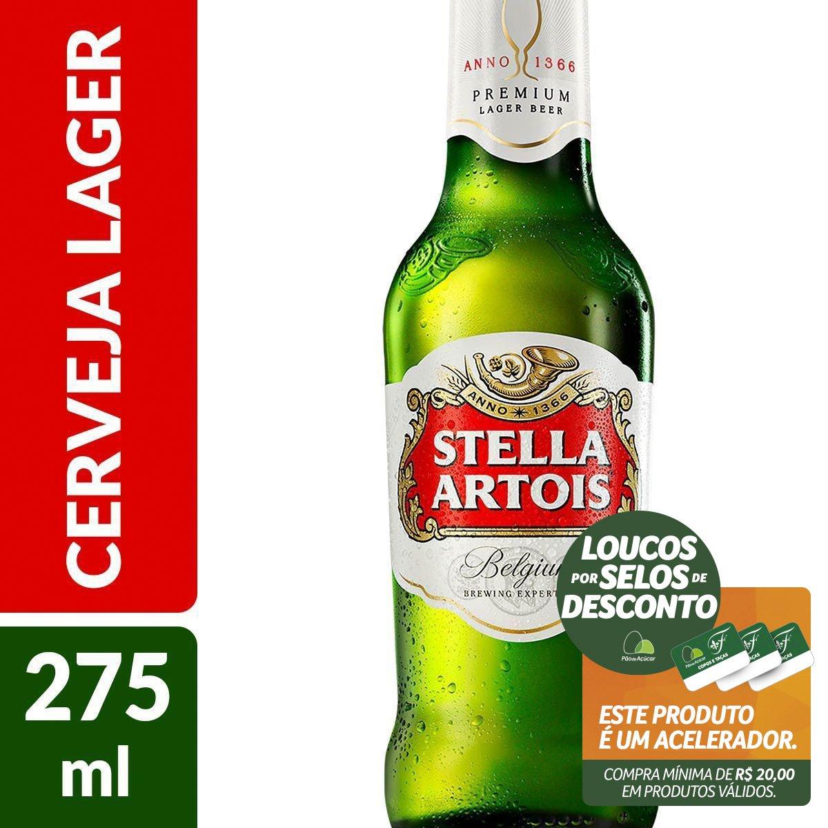 289ca4342f575 Cerveja STELLA ARTOIS Garrafa 275ml