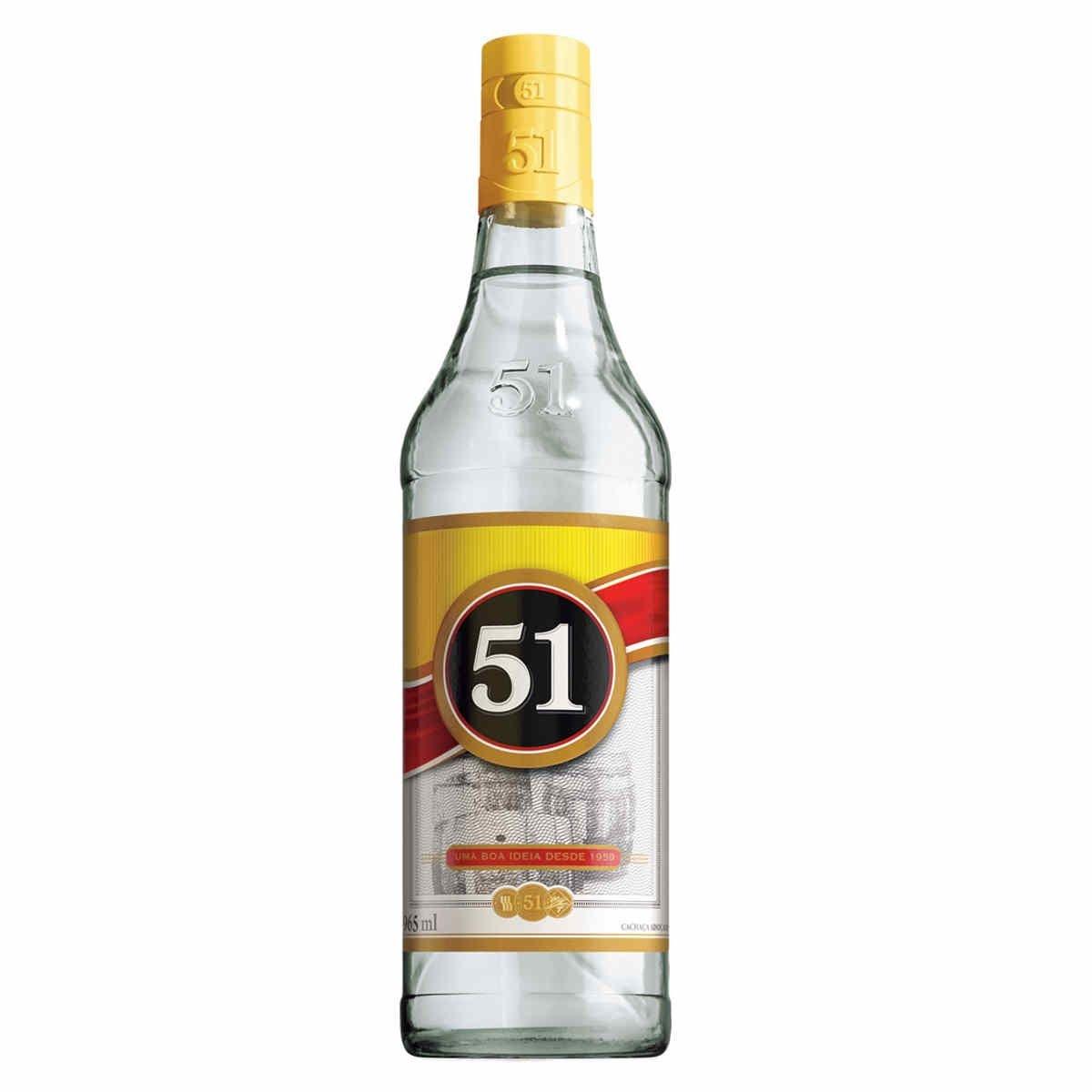 51 >> Aguardente 51 Pirassununga Garrafa 965ml